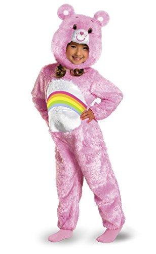 Care Bears Cheer Bear Deluxe Plush Costume, Pink/Rainbow, Small/2T -