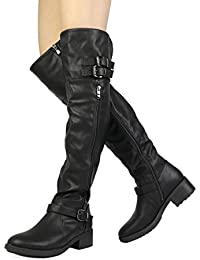 Amazon.com: Lace-up - Over-the-Knee / Boots: Clothing