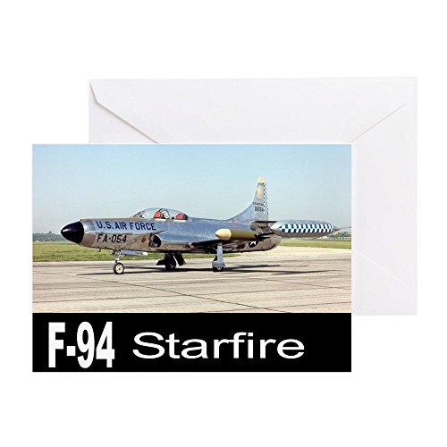 CafePress - F-94 STARFIRE AIRCRAFT - Greeting Card, Note Card, Birthday Card, Blank Inside (Air Edge Trainer)