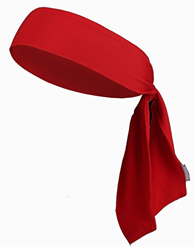 Head Tie & Sports Headband – Keep Sweat & Hair Out of Your Face – Ideal for Running, Working Out, Tennis, Karate, Athletics & Pirates. Performance Stretch & Moisture Wicking – DiZiSports Store