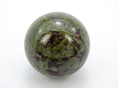 jennysun2010 2 pcs Natural Dragon Blood Stone Gemstone Collectibles Round Ball Crystal Healing Sphere Finger Health Massage Rock Stones 30mm With Wood ()