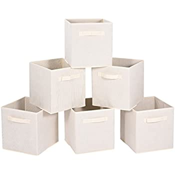 MaidMAX Cloth Storage Cubes Bins Baskets Containers With Dual Handles For  Home Closet Nursery Drawers Organizers