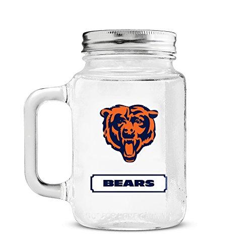 - NFL Chicago Bears 20oz Glass Mason Jar
