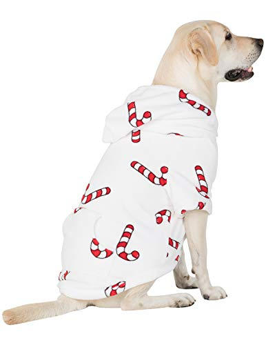 Pet Pjs - Candy Cane Lane Pet Pjs Chenille Hoodie- Small