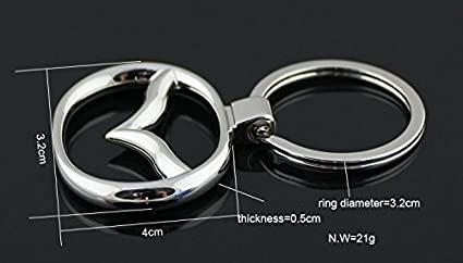 Audi bearfire car logo key chain Zinc Alloy Genuine Leather Key-ring