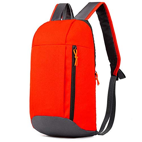 Twinlight Outdoors Sports Bags Women & Men Rainbow Striped Multifunctional Mini Backpack Hiking Travel Messenger Bag Running Bags (Orage Red)