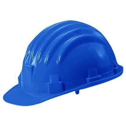 Casco de polietileno, Economico, color azul, en 397