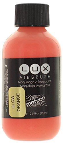 Mehron Makeup LUX Airbrush Face & Body Paint (2.5 oz) (GLOW ORANGE) ()
