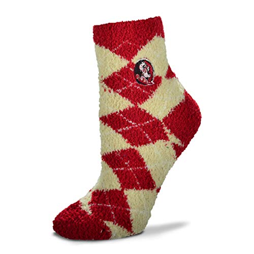 Bed State Florida (For Bare Feet NCAA Argyle Fuzzy Sleep Socks-Medium-Florida State Seminoles)
