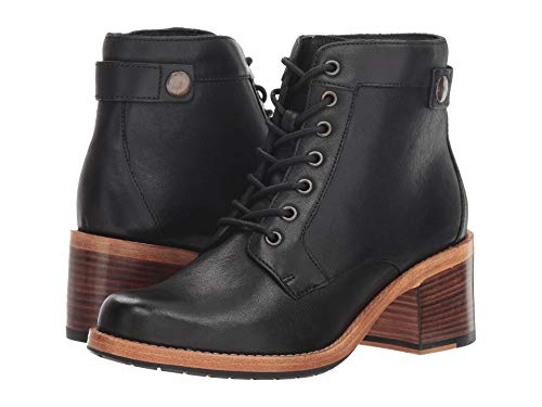 (CLARKS Womens Clarkdale Tone Ankle Boot, Black Leather, Size 7.5)