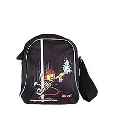 Lego Tablet Bag Vline City Fire Bolso Bandolera, 27 cm, 2 litros, Negro