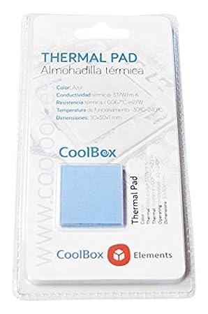 Coolbox Coo-TGH3W-Pad - Kit de Pasta térmica para portátil (4 Pads) Color Gris: Amazon.es: Electrónica