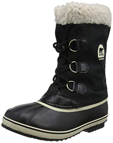 Sorel Yoot Pac Nylon Cold Weather Boot (Toddler/Little Kid/Big Kid), Black, 4 M US Big Kid ()