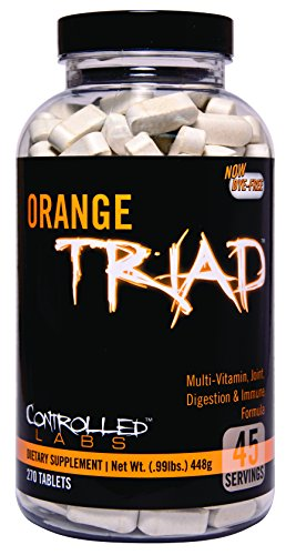 Controlled Labs Orange Triad:: Multivitamin, Joint, Digestion, And Immune, 270-Count Bottle - Orange Oximega Fish