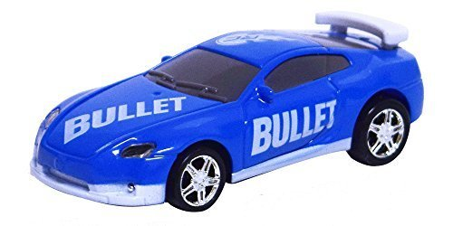 RC Pocket Racers Remote Controlled Micro Race Cars Vehicle, Bullet Blue