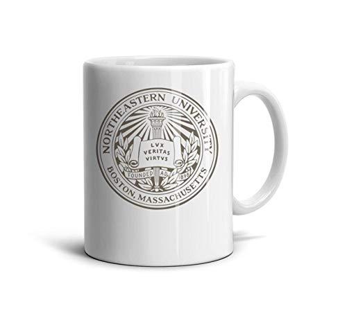 jdadaw Northeastern University Logo White 11 oz Mugs Novelty Coffee Mugs Santa Claus Teacup