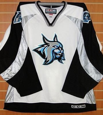 Augusta Lynx ECHL CCM Authentic On Ice Game Issued White Hockey Jersey -