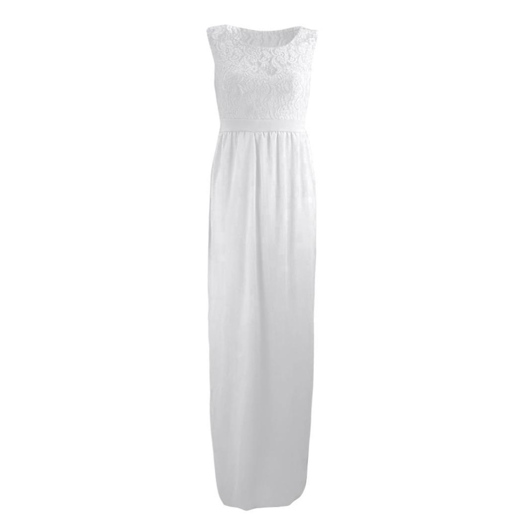 af4f7ffe1c8 Brezeh Pregnant Dress Women O-Neck Lace Maternity Dress Casual Sleeveless  Long Maxi Dress Maternity Gown Pregnancy Nursing Dress Photography Props  Clothes ...