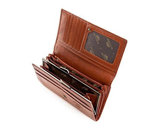 Wittchen Portafoglio Marrone Chiaro Dimensione 10x18 5 Cm - Materiale Pelle Di Grano 21-1-075-5
