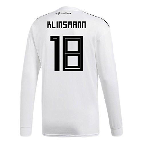 典型的な変成器代替adidas KLINSMANN # 18 Germany Home Soccer Long Sleeve Stadium Jersey World Cup Russia 2018/サッカーユニフォーム ドイツ ホーム用 クリンスマン # 18 長袖