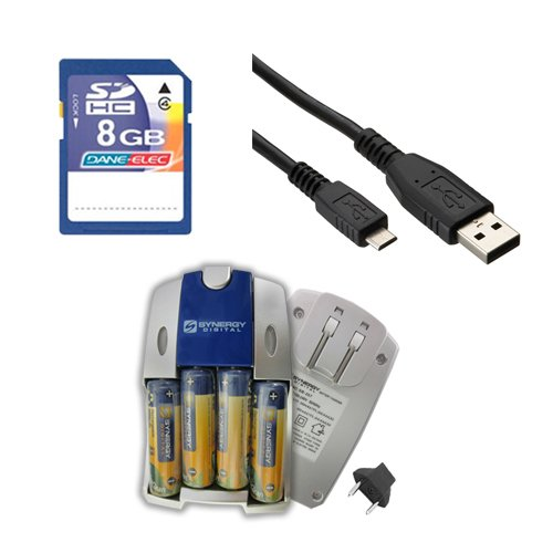 Brinno TLC200 Camcorder Accessory Kit includes: SB257 Battery, KSD48GB Memory Card, USBM USB Cable by Synergy Digital