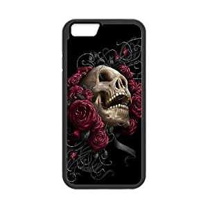 "DIY Phone Case for Iphone6 4.7"", Skulls & Rose Cover Case - HL-527109"