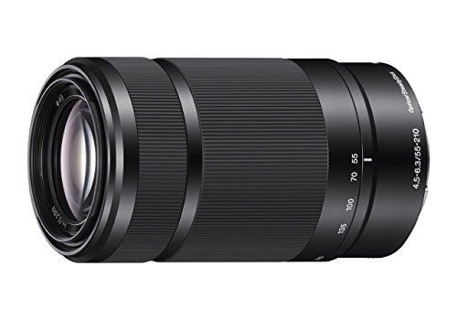 Sony E 55-210mm F4.5-6.3 Lens for Sony E-Mount Cameras (Black) (Certified Refurbished)