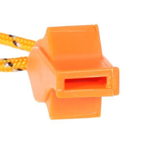 Dcolor Sifflet dUrgence Sifflet de Securite de Dauphin pour Survie en Plein Air Orange Vif