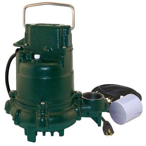 - Model BN53 Mighty-Mate Cast Iron Effluent Pump w/ Variable Level Float Switch - 115 V, 9 Ft Cord