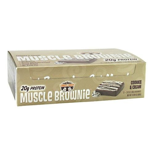 Lenny & Larry's Muscle Brownies - Cookies & Cream - Box of 12 - 2.82 oz. (80g) each