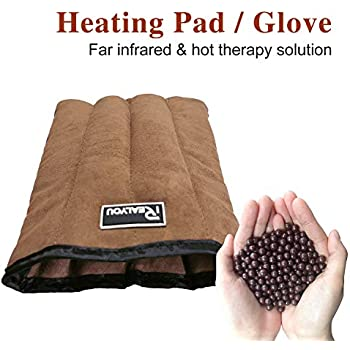 Therapy Heating Pad, Arthritis Pain Relief Glove - Microwavable Infrared Long Lasting Heat Mittens/Gloves for Arthritis Stiff and Natural Joint Pain Relief - Relieve for Carpal Arthritis - No Scented