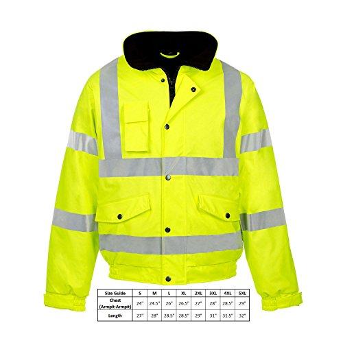 Kapton Mens Hi Vis Visibility Safety Work Hooded Sweatshirt Top Pullover Hoodie Jumper