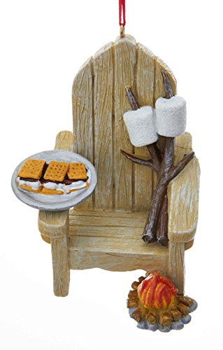 Kurt Adler Adirondack Chair and S'mores Ornament]()