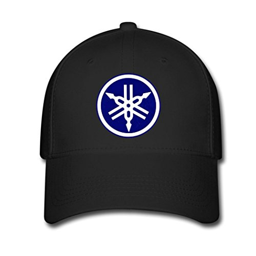 Adjustable Yamaha Bike Logo Baseball Cap Running Cap Black