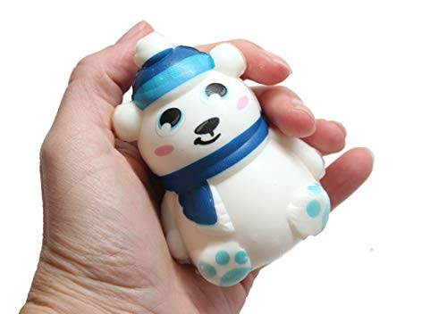 Squishy Polar Bear - Slow Rise Squish Foam Toy - Winter Holiday Christmas Stress ()