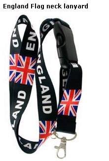 British UK England Flag lanyard Keychain Holder