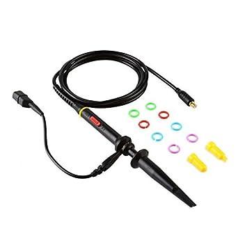 SainSmart Probe for Digital Oscilloscope DSO201 DSO202 DSO203 Oscilloscope Probe MCX Probe x1-amp-x10 60 MHz Black
