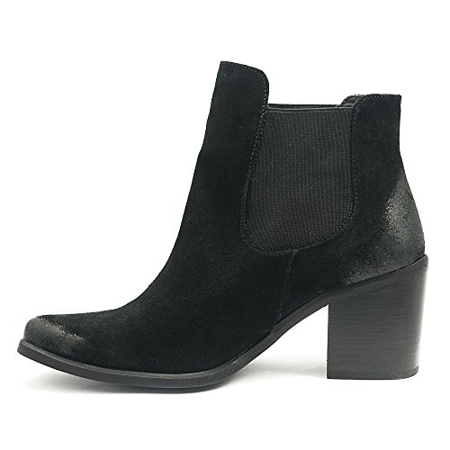 Prima suede upper leather foam insole heel for Women Black uq5gcC6ra