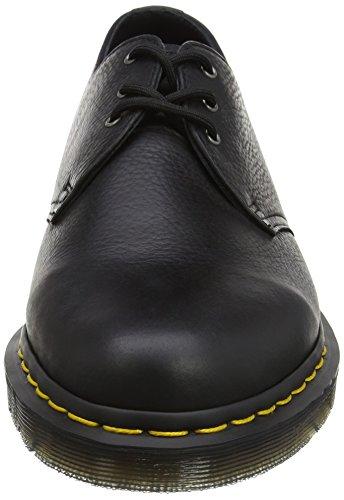 Dr. Martens 1461 Black Carpathian, Zapatos de Cordones Derby para Hombre Negro (Black)