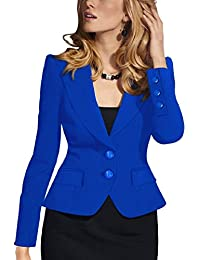 Women Elegant Two Button Business Suits Tops Outwear Jackets Blazer Coat