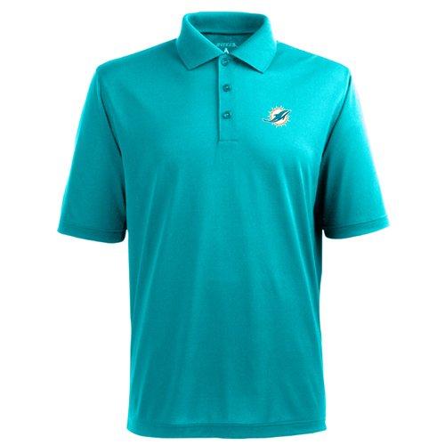 - Miami Dolphins Mens Pique Xtra Lite Polo Shirt (Alternate Color: Aqua) - Large