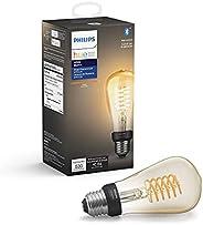 Philips Hue White Filament ST19 LED smart vintage bulb, Bluetooth & Hub compatible (Hue Hub Optional), voi