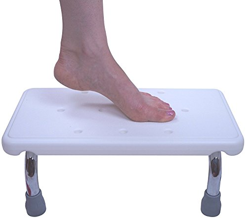 Bath Step Stool - Foot Step for Children, Adults, Seniors, Elderly & Handicap - Heavy Duty Portable Medical Bath or Kitchen Stepping Stool - by -
