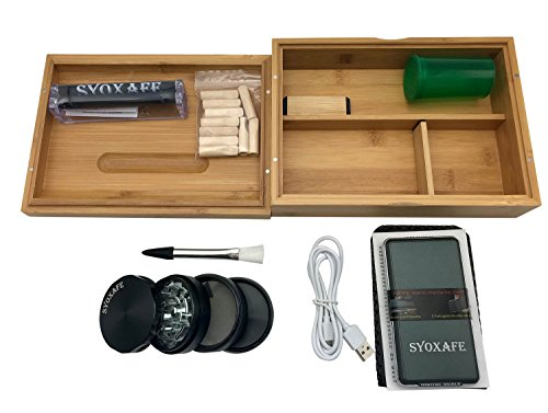 SYOXAFE Bamboo Rolling Tray Kit with 8-in-1 includes Herb Grinder Pocket Scale Cigarette Roller by SYOXAFE (Image #5)