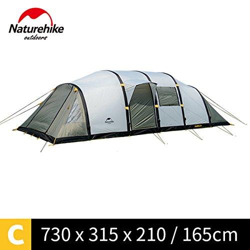 事前圧倒的フィードバック家族の休日に大きなキャンプテントNH17T400-T用NatureHikeワームホール8-10人のテント