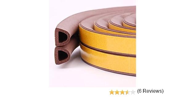 meteorológica para desmontar Yolin puertas y ventanas aislamiento acústico de sellado burlete autoadhesivo de goma para grietas y lagunas: Amazon.es: Bricolaje y herramientas