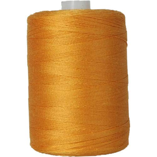 (Threadart 100% Cotton Thread | Color PUMPKIN | For Quilting, Sewing, and Serging | 1000M Spools 50/3 Weight | 50 Colors Available)