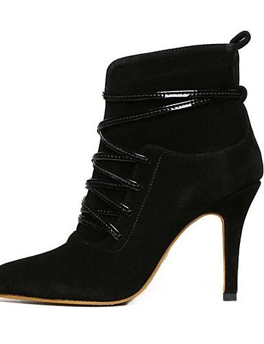 Black Eu36 Vellón Black Cn39 Cn35 Zapatos us5 us8 Rosa 5 Tacones Botas Negro Tacón Mujer 5 Vestido Uk6 Eu39 Uk3 Puntiagudos De Stiletto Xzz R7xzqWTa7w