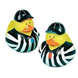 : One Dozen (12) Rubber Ducky Sport Referees