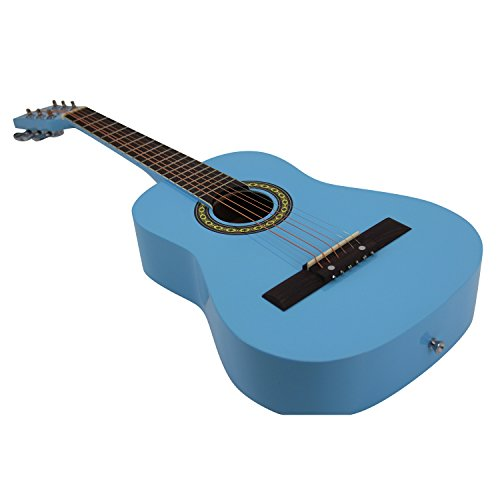 Bailando 30 Inch Starter Acoustic Beginner Guitar with Carrying Bag & Accessories, Blue - Image 3